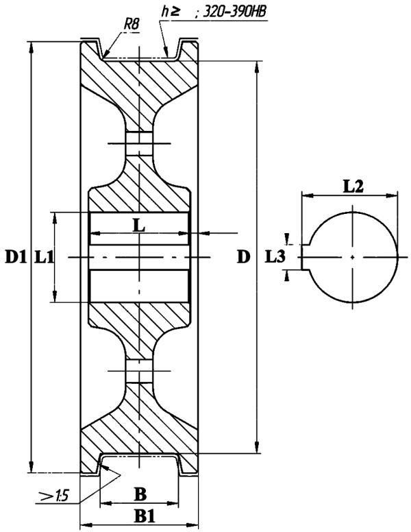 Колесо крановое двухребордное