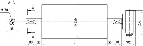 Мотор-барабан МБ5ПF