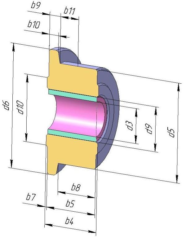 Ролики DIN 8169 для конвейерных цепей М40