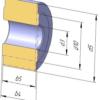 Ролики DIN 8169 для конвейерных цепей М80