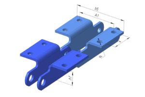 Тип 1.2 - специальные пластины с двумя отверстиями в полке