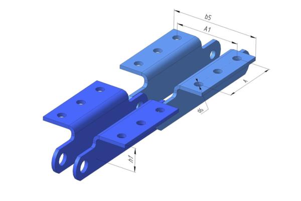 Тип 1.3 - специальные пластины с тремя отверстиями в полке