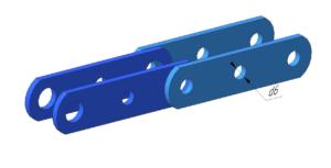 Тип 2.1 - специальные пластины без полки с одним отверстием